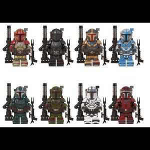 Star War Mandalorian 8 Piece Minifigure Set